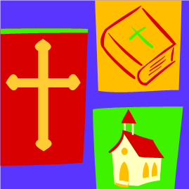cross, church & bible