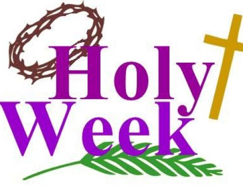 Message from Adrian Wilkinson for Holy Week 2020